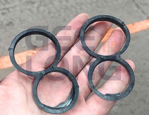 8 anillos de plástico para evitar el agrietamiento del tronco de madera